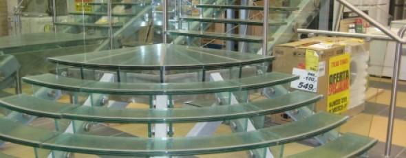 Schody Szklano-Metalowe